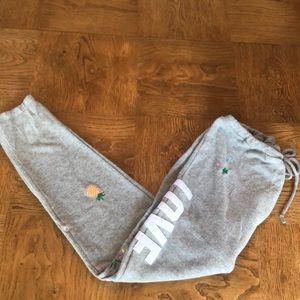 Chaser Aloha Gray Sweatpants Sz L